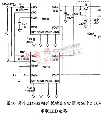 通用ac-dc恒流led驱动器ic电路特点及应用原理图介绍