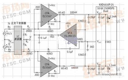 一种差分直流耦合adc输入电路设计